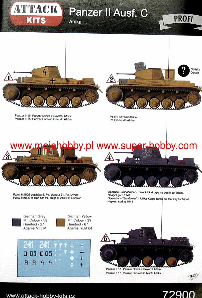 Pz C Puertas Exterior: Pz.Kpfw II Ausf.C Africa Attack 72900