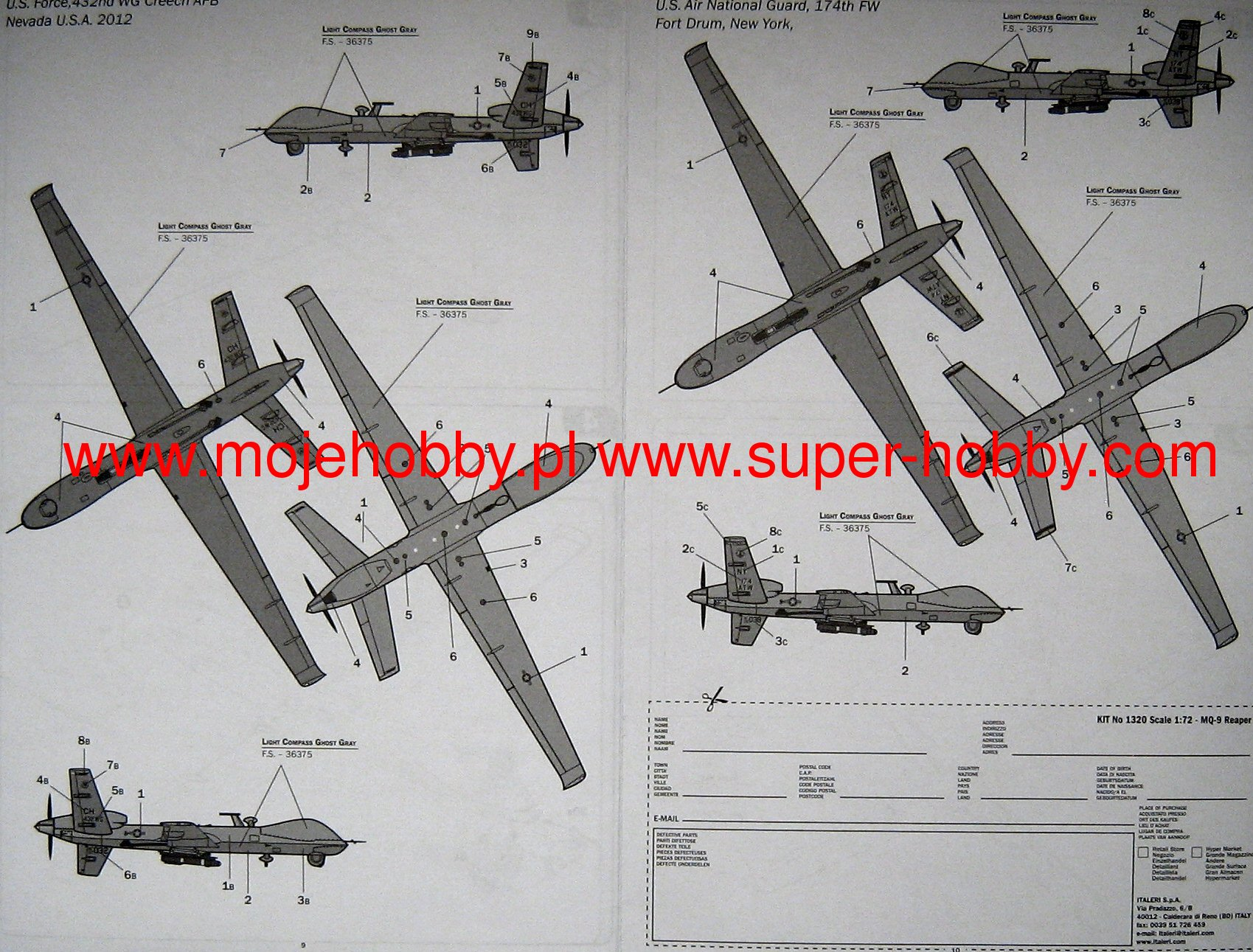 Amazon.com: ITALERI 1/72 MQ-1B Predator A + Italian Air ...
