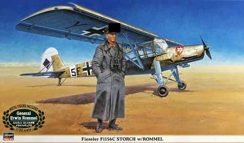 Fieseler Fi156c Storch W Rommel Hasegawa 08165