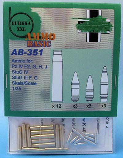 STUG III, STUG IV, PZKPFW IV #E002 1//35 EUREKA AMMO BOXES TO 7,5cm KwK40//StuK40