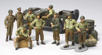 WWII US Infantry at rest with Jeep - Image 1