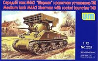 Sherman M4A2 with T40 rocket launcher