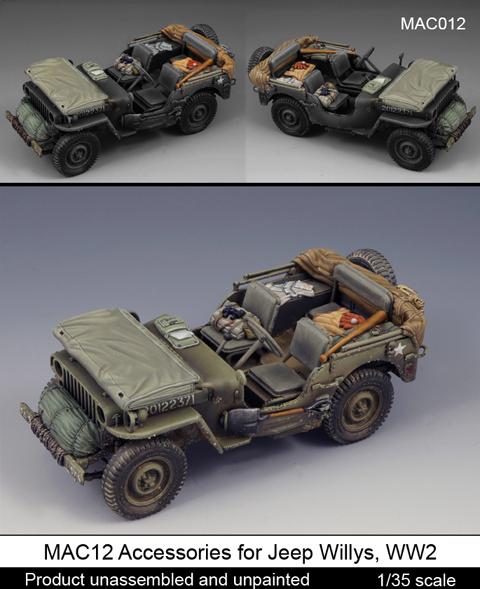 Accessories For Jeep Willys Ww2 Dedykowane Do Modelu Tamiya Mantis Miniatures Mac12
