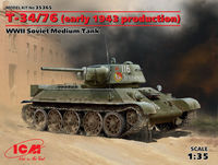 T-34/76 (early 1943 production), WWII Soviet Medium Tank - Image 1