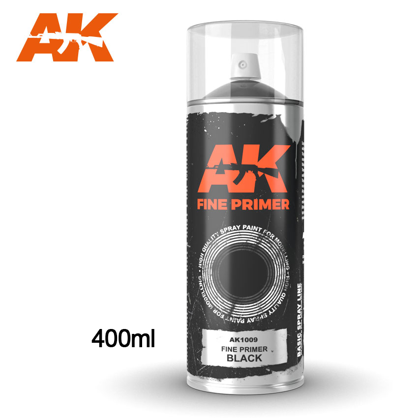 AK1009 FINE PRIMER BLACK SPRAY - Image 1