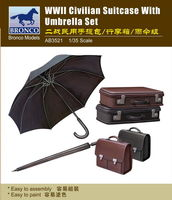 Civilian Suitcase With Umbrella Set (II World War)