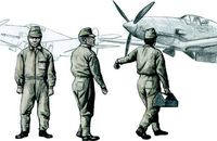 Japanese Army AF Mechanics, WW II (3 fig.) - Image 1
