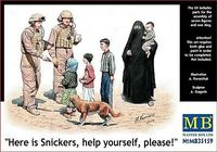 Here is Snickers, help yourself, please!