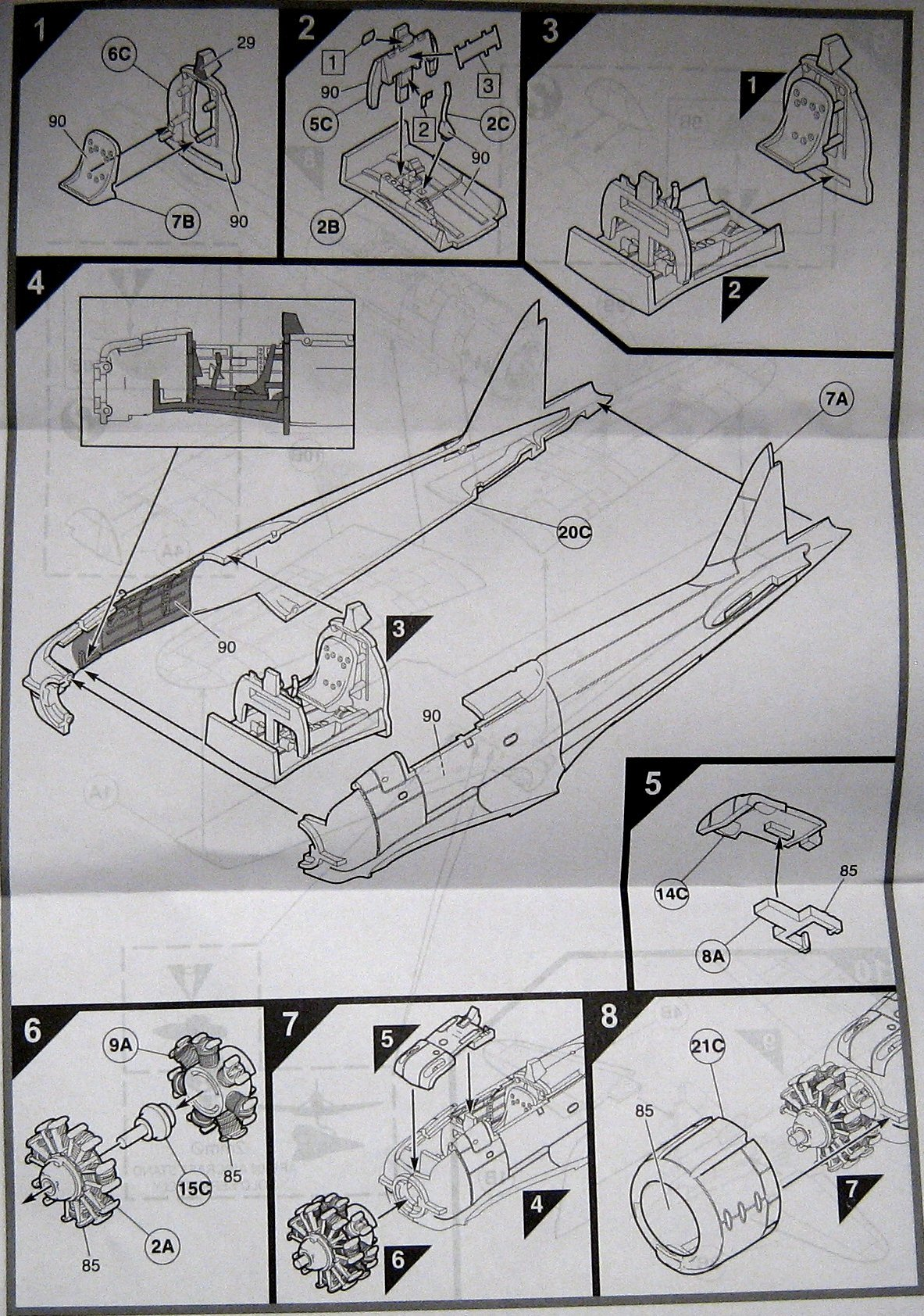 Mitsubishi A6m2b Zero Starter Set Airfix 55102 Diagram 2 Afx55102 3