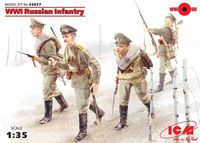 WWI Russian Infantry, (4 figures)