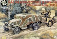 Military truck GAZ AA and Flak 38 Finnish - Image 1
