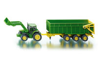 John Deere with Front Loader and Trailer