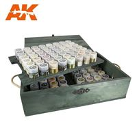 AK RC WOOD AFV: WOODEN TRANSPORT BOX, REAL COLORS – SPECIAL EDITION