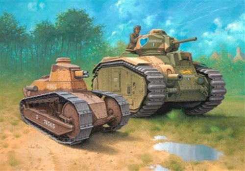 Char B 1 Bis And Renault Ft 17 Revell 03220