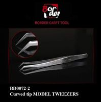 Curved Tip Model Tweezers