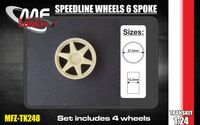 Speedline wheels 6 spoke 4 screw - Image 1