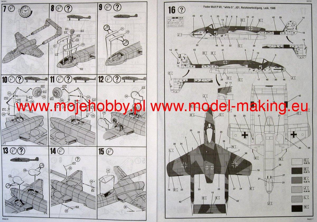 Revell 1:72 Focke Wilf TL-Jager FLITZER 04191