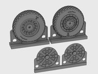F4U Corsair/F6F Hellcat Diamond Thread Wheels set - Image 1