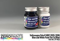 1422 Volkswagen Polo R WRC 2015 - Blue and White Set - Image 1