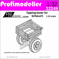 Tipping body for Scheuch-Schlepper Tractor (designed to be used with Profimodeller kits)