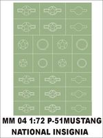 National insygnia 1/72 P-51 Mustang 1 sheet - Image 1