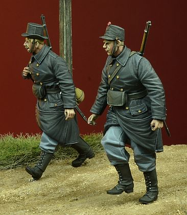 WWI Belgian Infantry walking, 1914-1915 - Image 1