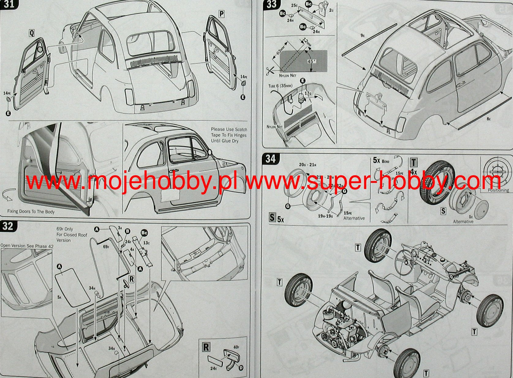 Fiat 500f Wiring Diagram Start Building A 1977 124 1968r Italeri 4703 Rh Super Hobby Co Uk 500 F Spider Dashboard Controls