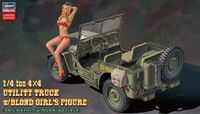 52249 1/4 ton 4x4 Utility Truck w/Blond Girls Figure - Image 1