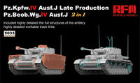 PZ.KPFW.IV AUSF.J LATE PRODUCTION /PZ.BEOB.WG.IV AUSF.J 2 IN 1 W/WORKABLE TRACK LINKS