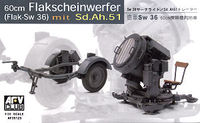 German SW-36 Searchlight/with Sd.Ah.51 Trailer