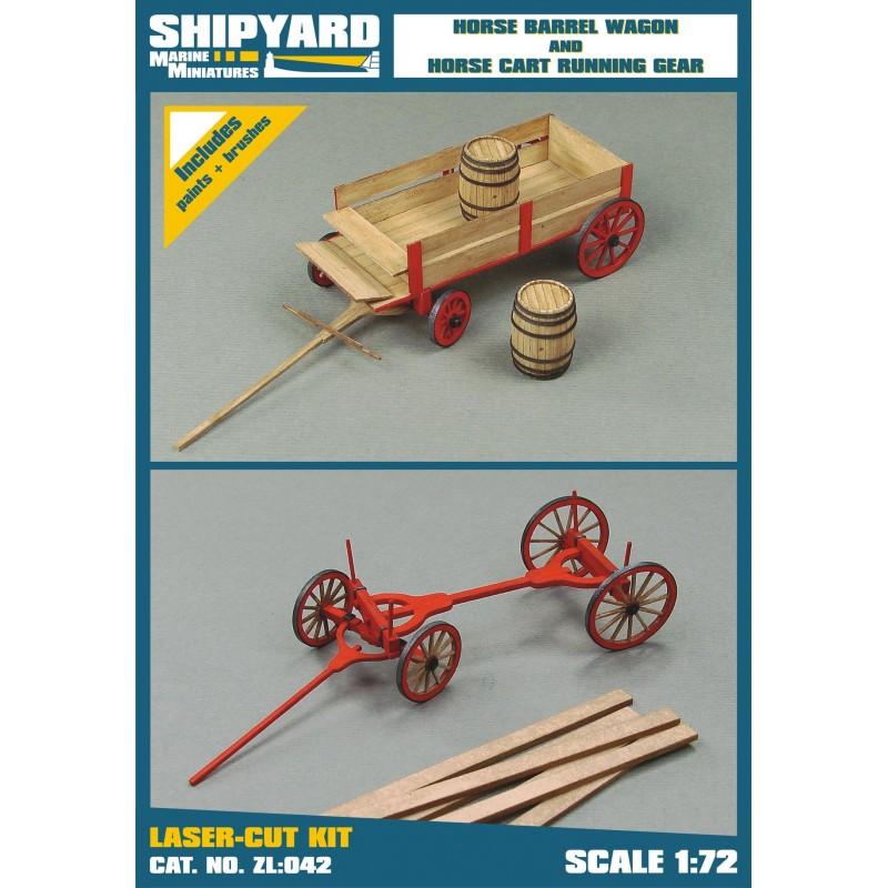 Horse Barrel Wagon And Horse Cart Running Gear
